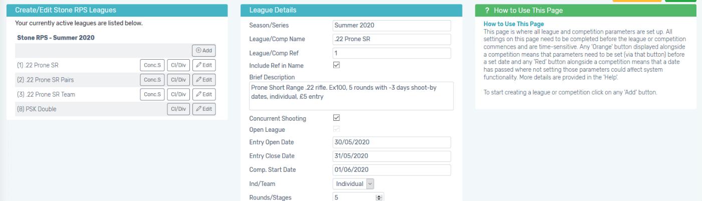 Create virtually any league format